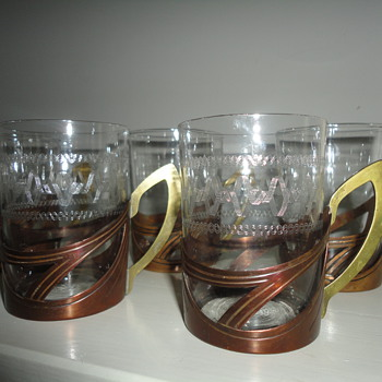 Carl Deffner Jugendstil copper tea holders, Germany c. 1900 - Art Nouveau