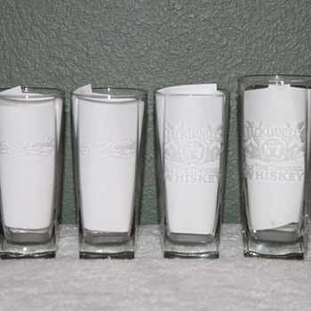 4 JACK DANIELS HI-BALL FENTON ART GLASS GLASSES