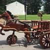 Antique Wooden Pedal Cart - Basic View