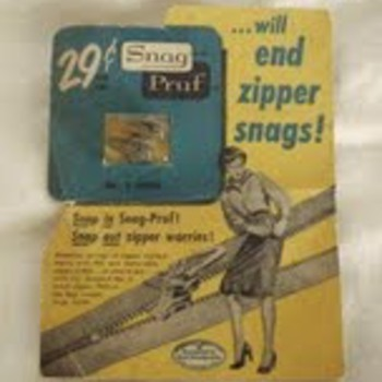 Found this in the bottom of an old sewing box.  Is it from the 1950's? - Sewing