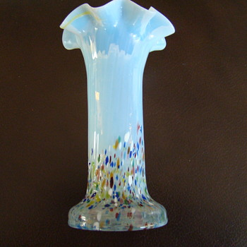 Kralik harlequin opalescent vase - Art Glass