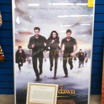 "Twilight Saga 27"" SIGNED Poster"