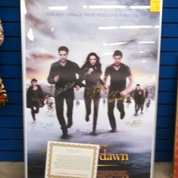 "Twilight Saga 27"" SIGNED Poster  - Movies"