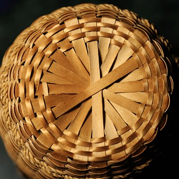 Large Sweetgrass Yarn Basket