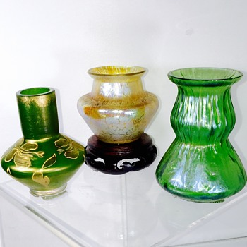 My Loetz Trio In Mini's Vases  - Art Nouveau