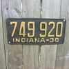 1930 steel indiana plates