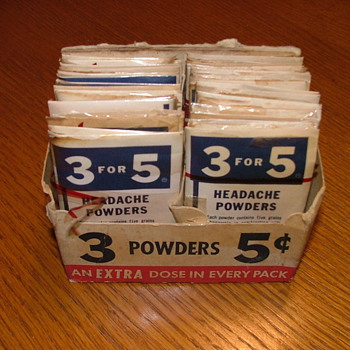 OLD HEADACHE POWDERS