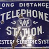 Western Electric System Sign