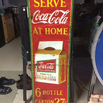 Rare Canadian Coca Cola 6-pack Sign - Coca-Cola