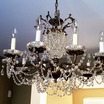 Bronze antique chandelier 10 lights & My beautiful vintage dream