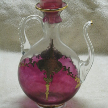 Free Blown Spout Decanter Very Old - Glassware