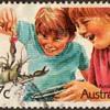 """1987 - Australia """"Aussie Kids"""" Postage Stamps"""
