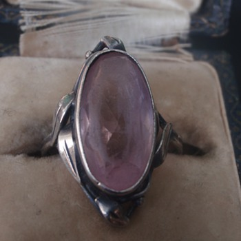 Arts & Crafts Rose Quartz Ring - Wager - Arts and Crafts