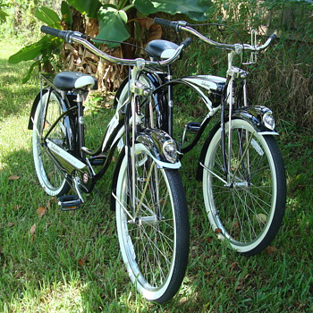 Our Schwinn Deluxe 7's His and Hers