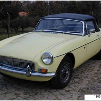1968 MGB Primrose yellow Roadster
