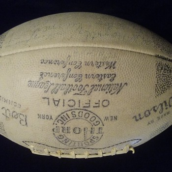 1949-1952 Chicago Bears Autographed Official NFL Football, Extremely Rare