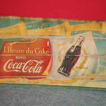 coca cola cardboard poster