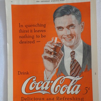 1922 Coca Cola ad  - Advertising