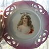 "Late Victorian Porcelain Plates ""Irish Colleen"""