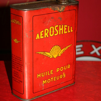 aeroshell shell oil can - Petroliana