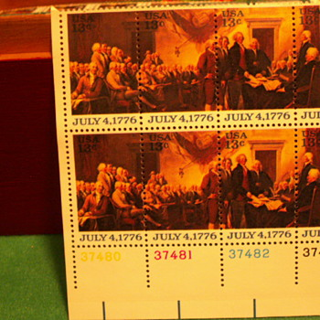 1976 Signing Of The Declaration Of Independence July 4, 1776 13¢ Stamps - Stamps