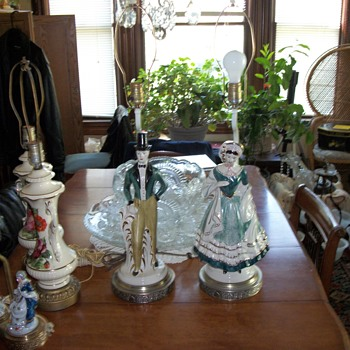 large figural lamps