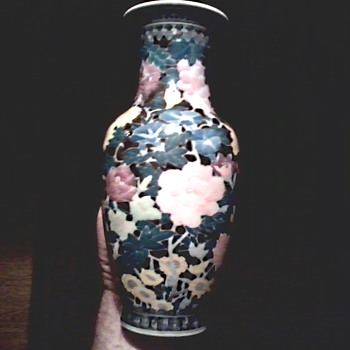 Liling China Vase / Famille Noire Pattern / Circa 19?? - Asian