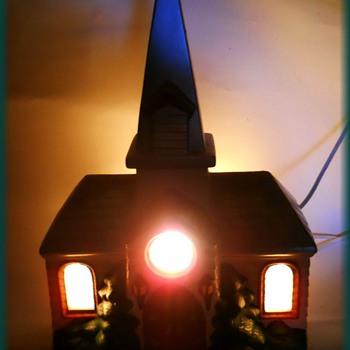 Vintage Ceramic Church ( Christmas / Xmas ) Item - Christmas