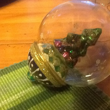 Blown glass Christmas ornament - Christmas