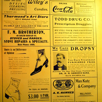c. 1902 Sheet Music -  Coca-Cola Ad