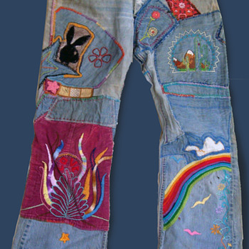 Meg from Florida's early 70s embroidered Hippie Folk Art Clothes - Womens Clothing