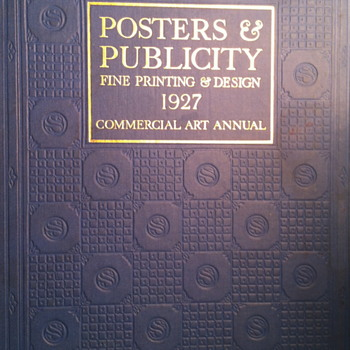 Posters and Publicity fine printing and design 1927 commercial art annual.