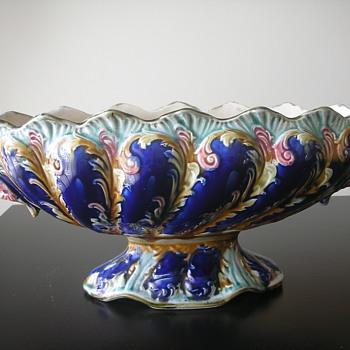 Majolica Jardiniere - Art Pottery
