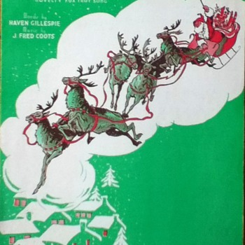 &quot;Santa Claus Is Comin&#039; To Town&quot; Sheet Music - Paper
