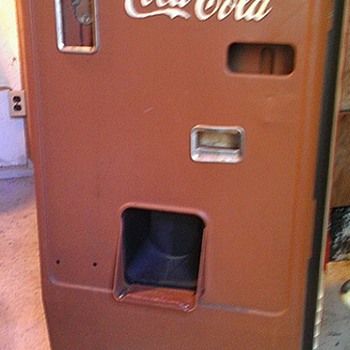 Ugly brown Coke machine  - Coca-Cola