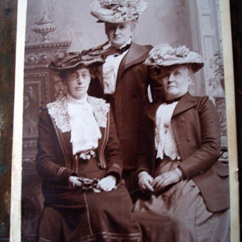 Three For Tea on a CDV - Photographs