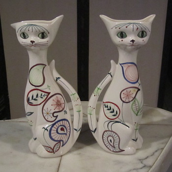 Lefton Vintage 60's Cat Wall Pocket-Planter - Animals