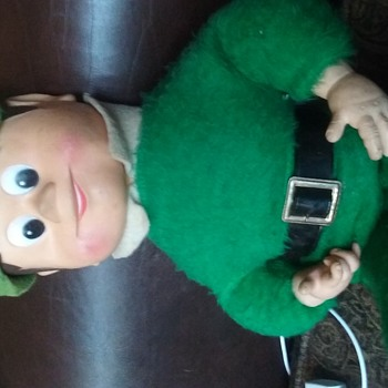 Vintage stuffed character doll... Who is he? - Advertising