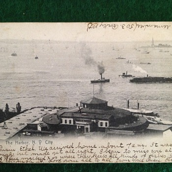 Vintage Picture & Photo  Post Cards one a Ship with the Statue of Liberty