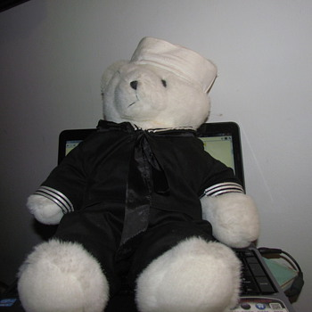 Sailor Bear  Stuffed Animal. - Dolls