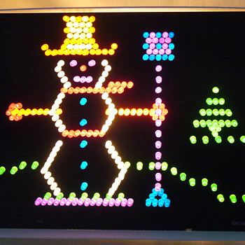 Retro Christmas...Lite Brite snowman.... - Games