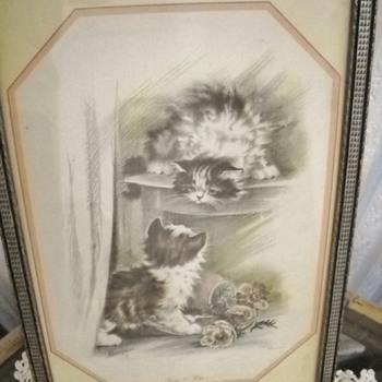 OLD KITTENS PRINT