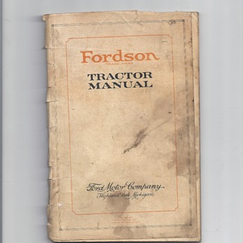 Fordson trademark 1930  Tractor Manual - Tractors