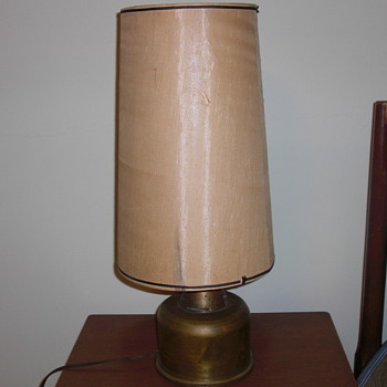 Trench art lamp date 1941
