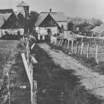 Old family members farm in Nebraska 1920 Log Cabins - Photographs