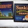 Sunkist California Oranges and Rubaiyat crate labels