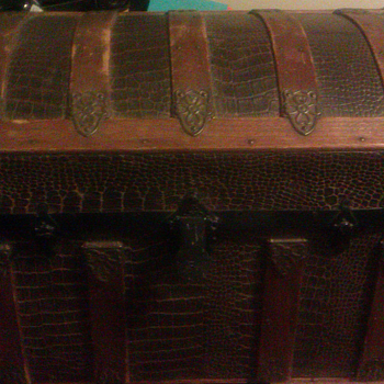 Antique Dome Top Trunk From 1800s
