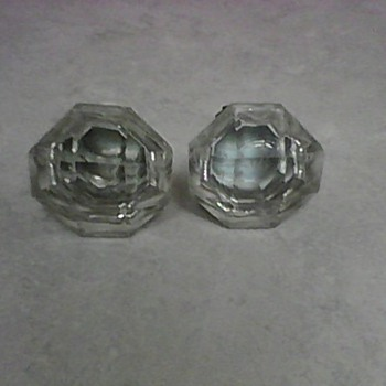 OLD GLASS DOOR KNOBS