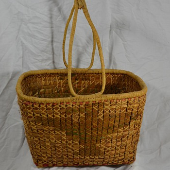 Native Basket of Bird with Handles