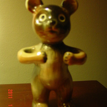 Teddy Bear Figure  - Art Pottery